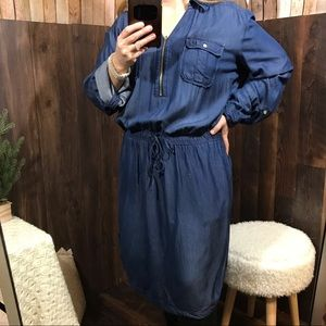 INC denim tunic style dress